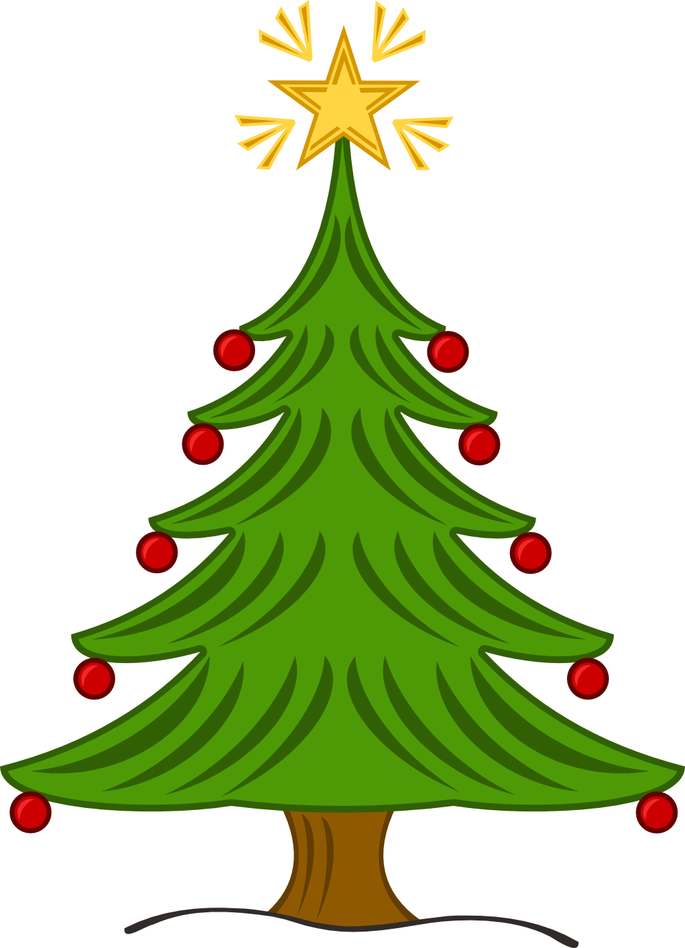 Xmas Stuff For > Country Christmas Tree Clip Art