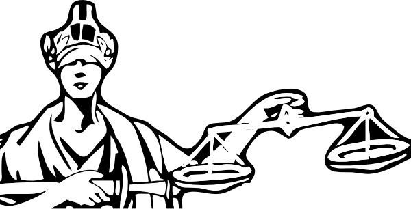 Blind Justice clip art - vector clip art online, royalty free ...