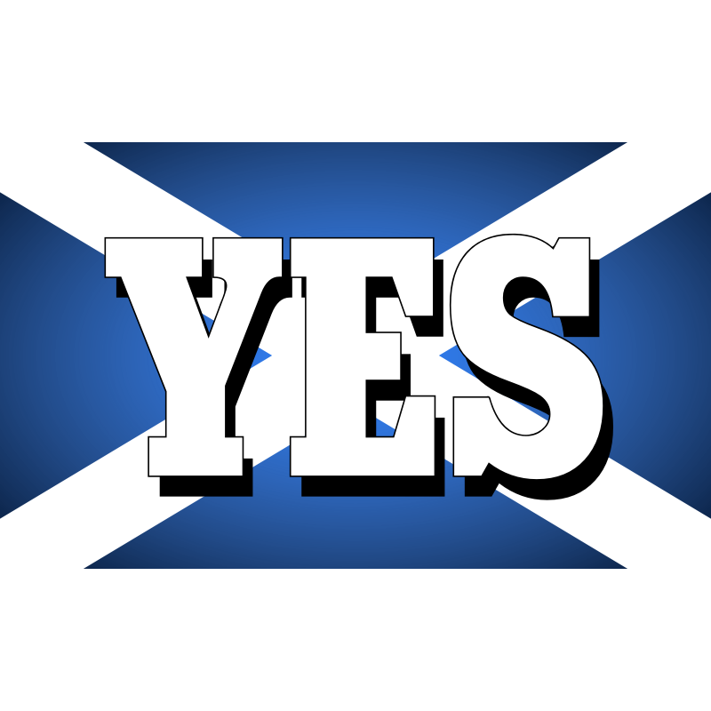 Clipart - Yes to an independent Scotland