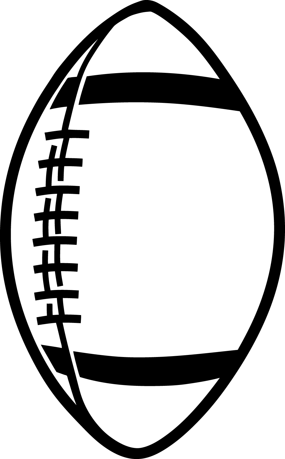 Images For > American Football Clipart Black And White