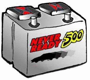 Dead Car Battery Cartoon