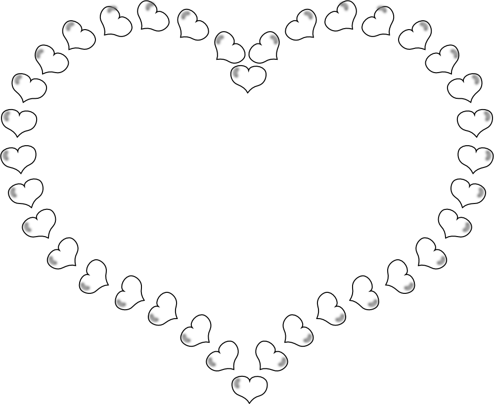 Real Heart Clipart Black And White Wallpaper | Fashion Trends 2014
