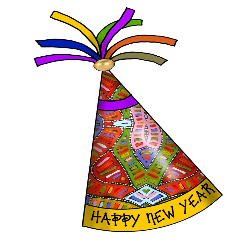 ArtbyJean - Paper Crafts: Happy New Year Party Hats - Clipart ...