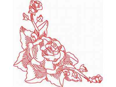 Buy Individual Embroidery Designs from the set JN Rose Borders ...