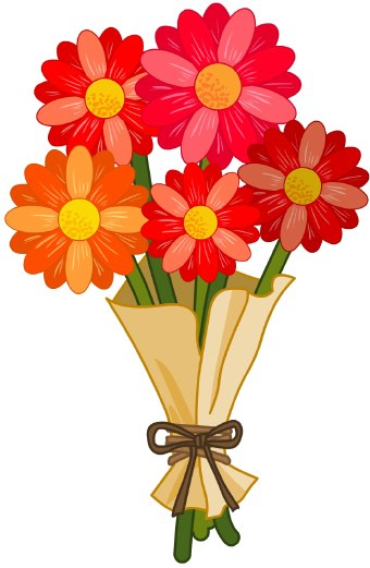 Birthday Flowers Clip Art Top 25 Images Cute | Download Free Word ...