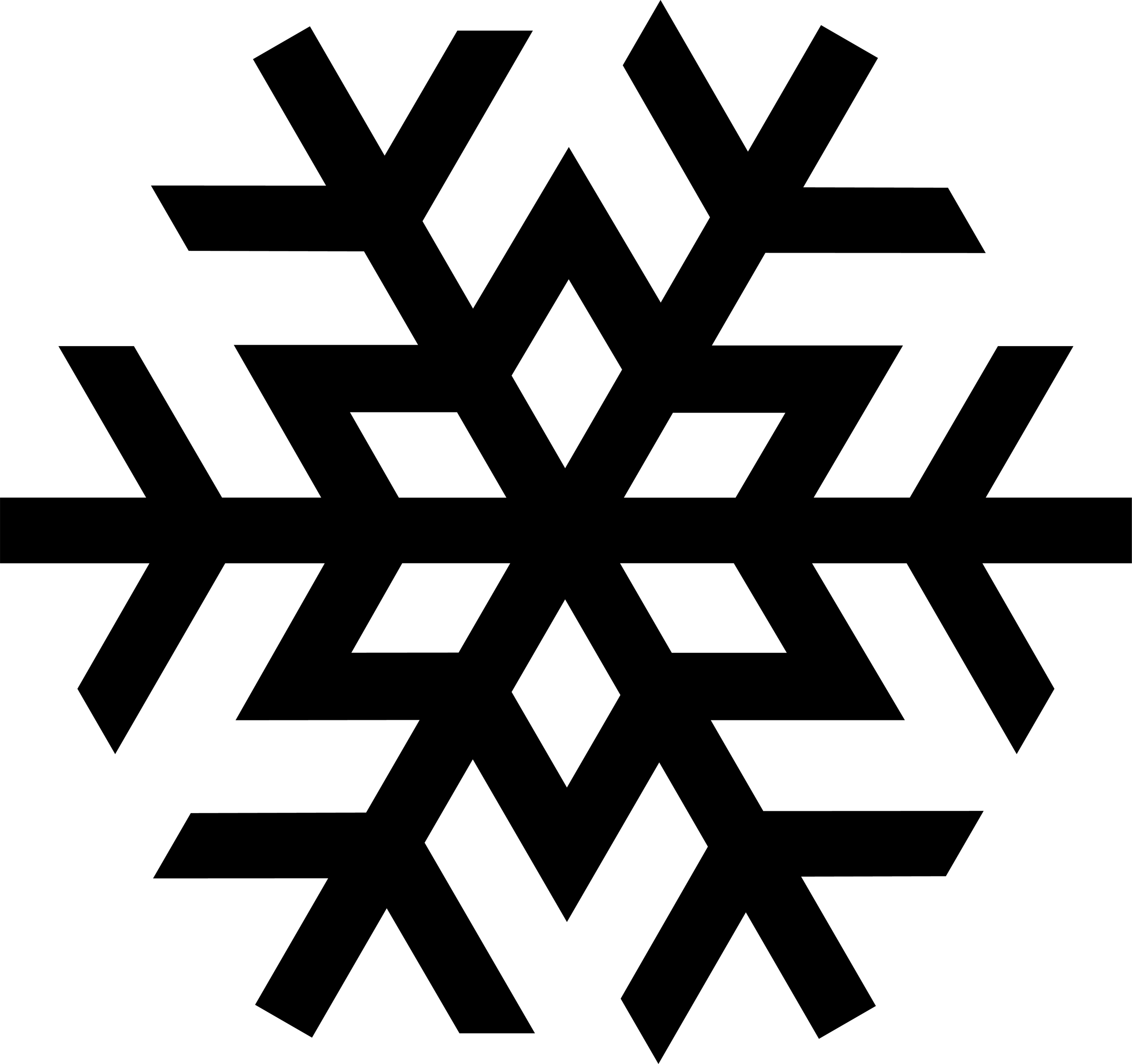 Black Snowflake Clipart | Clipart Panda - Free Clipart Images