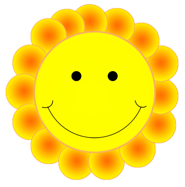 Free Smiling Flower Clipart
