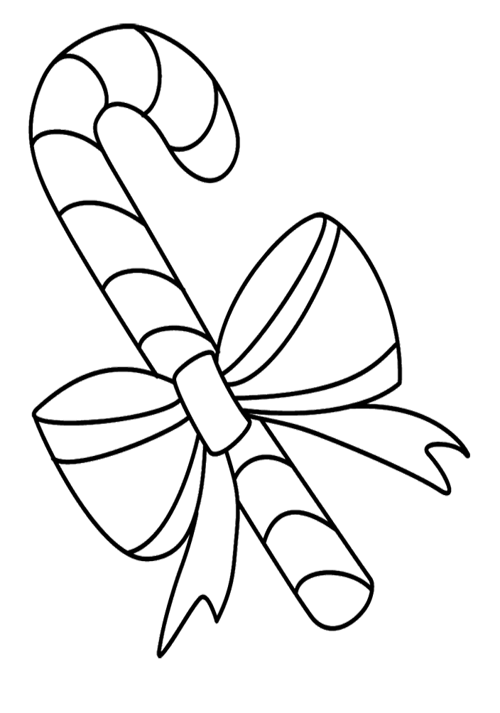 Candy Canes Christmas Coloring Sheets Pictures to Pin on Pinterest