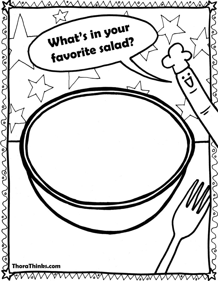 salad coloring pages - photo#15