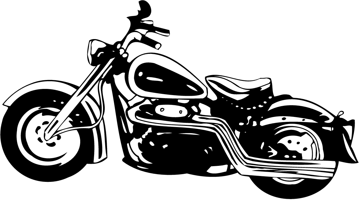 Black And White Motorcycle Art - Cliparts.co