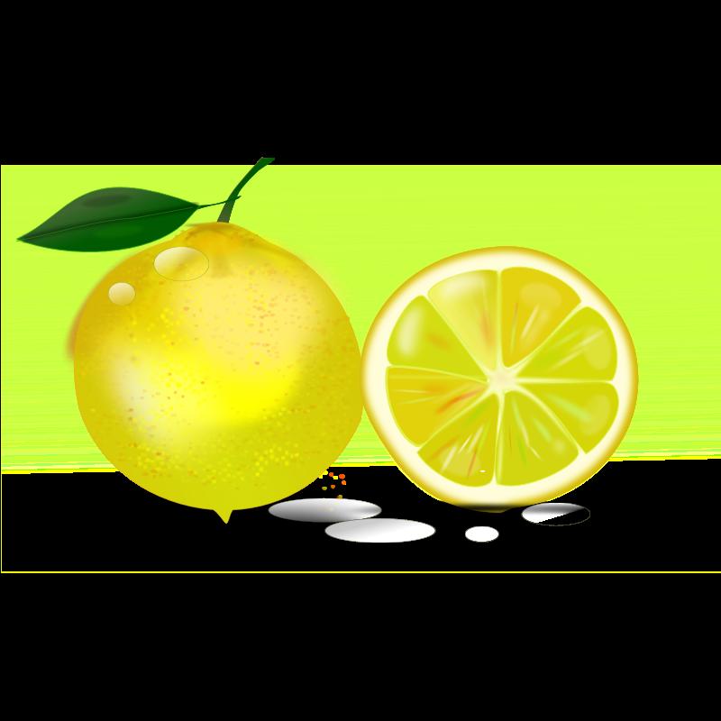 free clip art lemon slice - photo #12