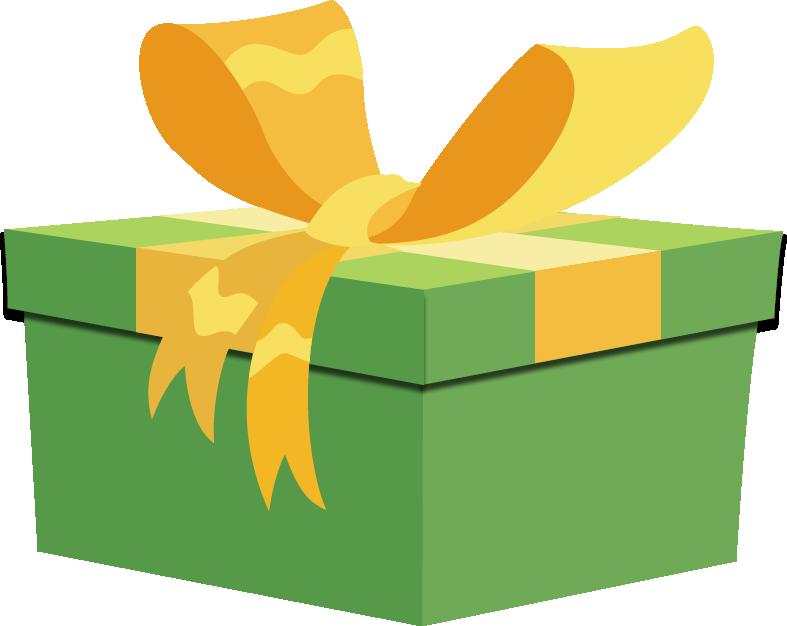 Cartoon birthday present box