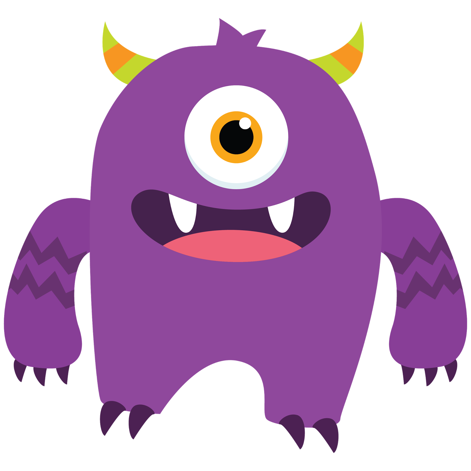 Images For > Happy Monster Clipart