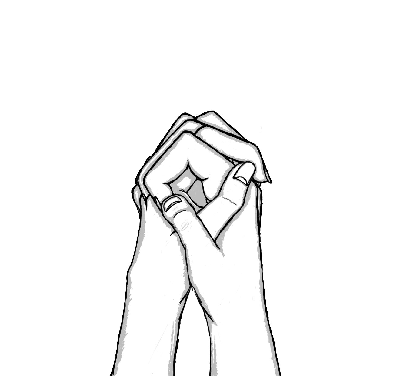 Drawings Of Holding Hands - Cliparts.co