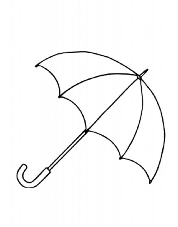 Printable Umbrella Template Cliparts Co