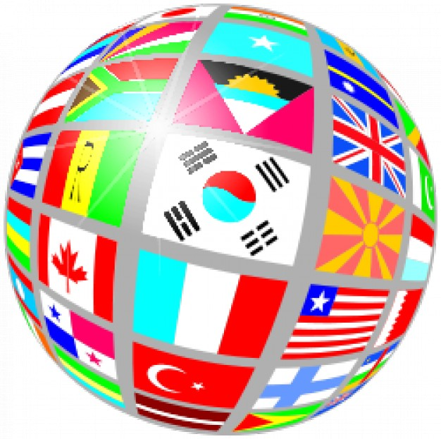 globe of flags Vector | Free Download