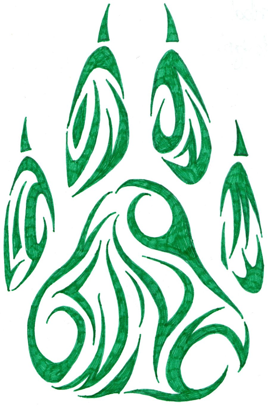 wolf claw tattoo cliparts co paw print clip art free download paw print clip art free download
