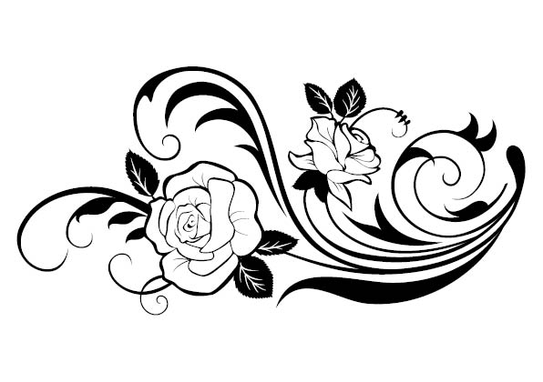 Flower And Heart Tattoo Designs