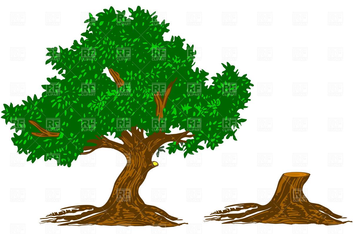 Cartoon tree stump for Tree trunk art