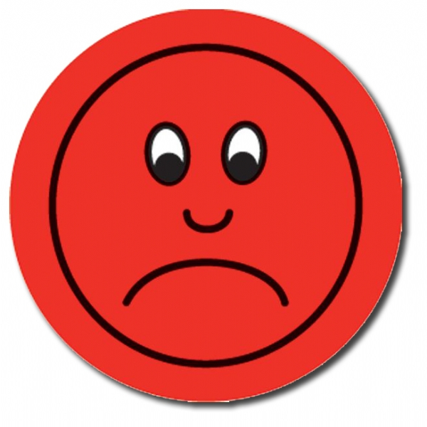 Red Unhappy Face - ClipArt Best