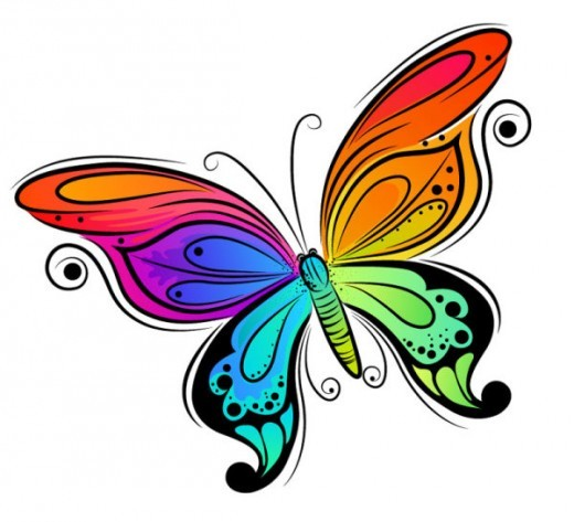 Butterfly clip art 170 best free clip art drawings of for How to make a butterfly drawing