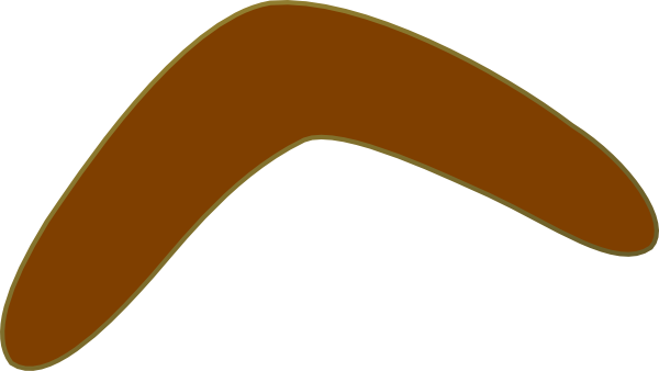 Aussie Brown Boomerang clip art - vector clip art online, royalty ...
