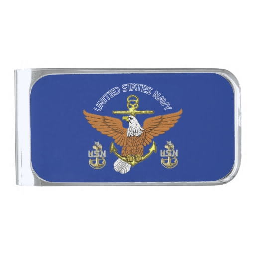 Navy Chief Money Clips | Navy Chief Credit Card Holder Designs