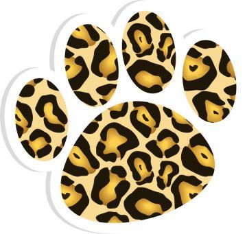 leopard clipart cliparts co Lion Paw Print Clip Art Metallic Paw Prints Clip Art