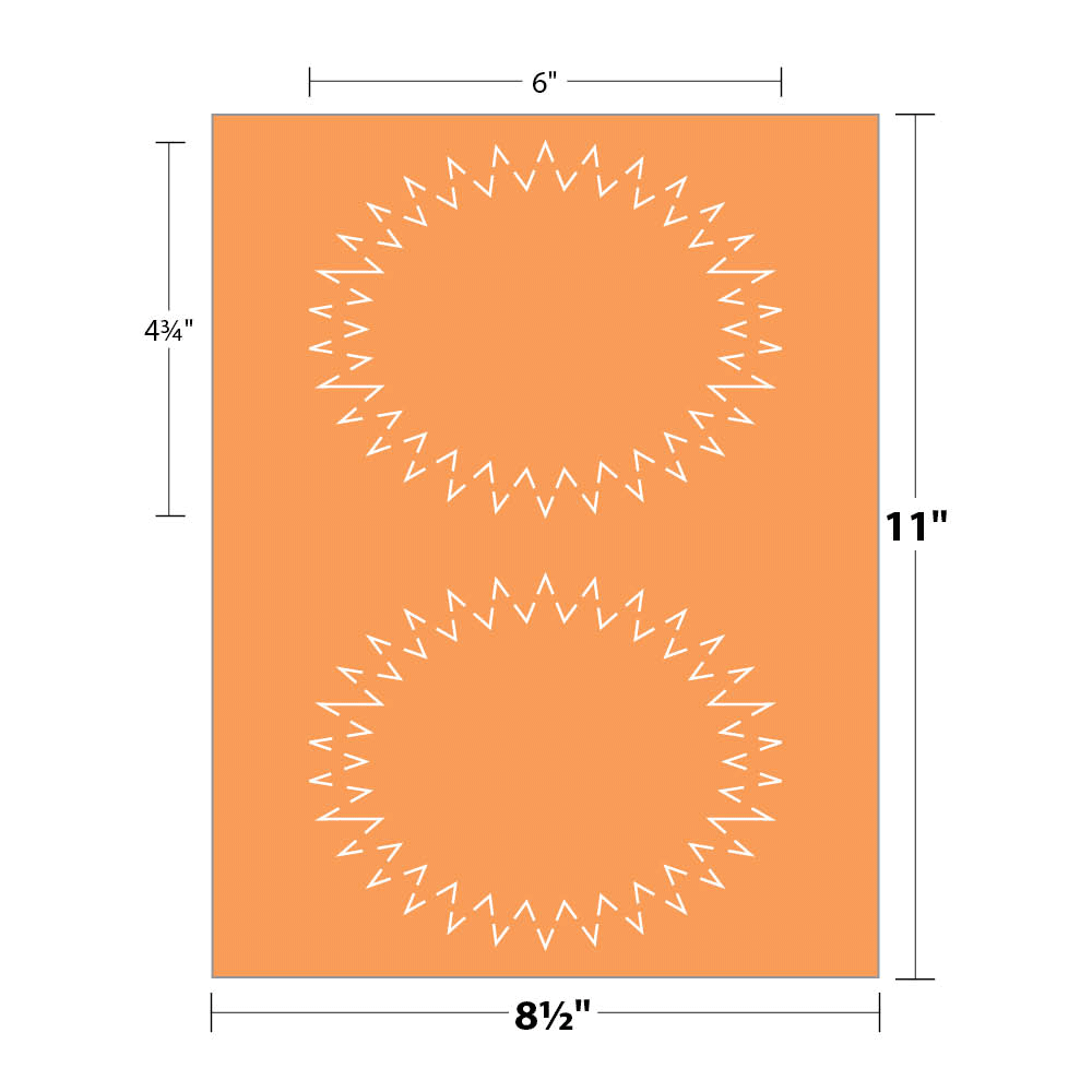 Printable Starburst Shape - Hunters' Oranger - Cover | Blanks/USA