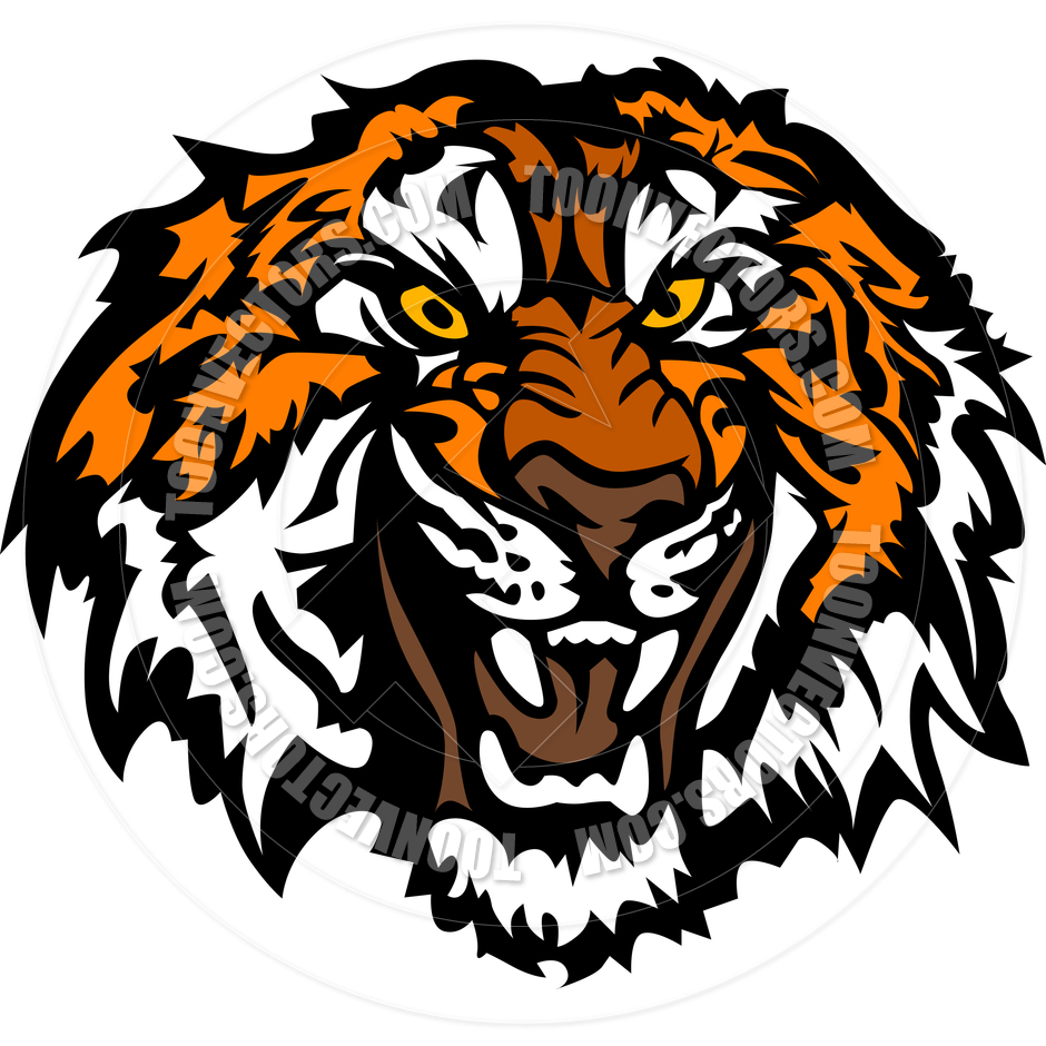 Tiger Head Clipart Black And White Tiger Head Clip Art Black And