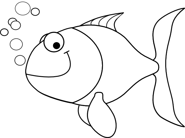 Fish Outline clip art - vector clip art online, royalty free ...