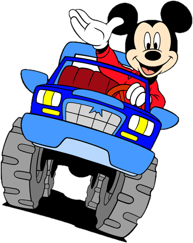 Disney's Mickey Mouse Truck Clipart --> Disney-