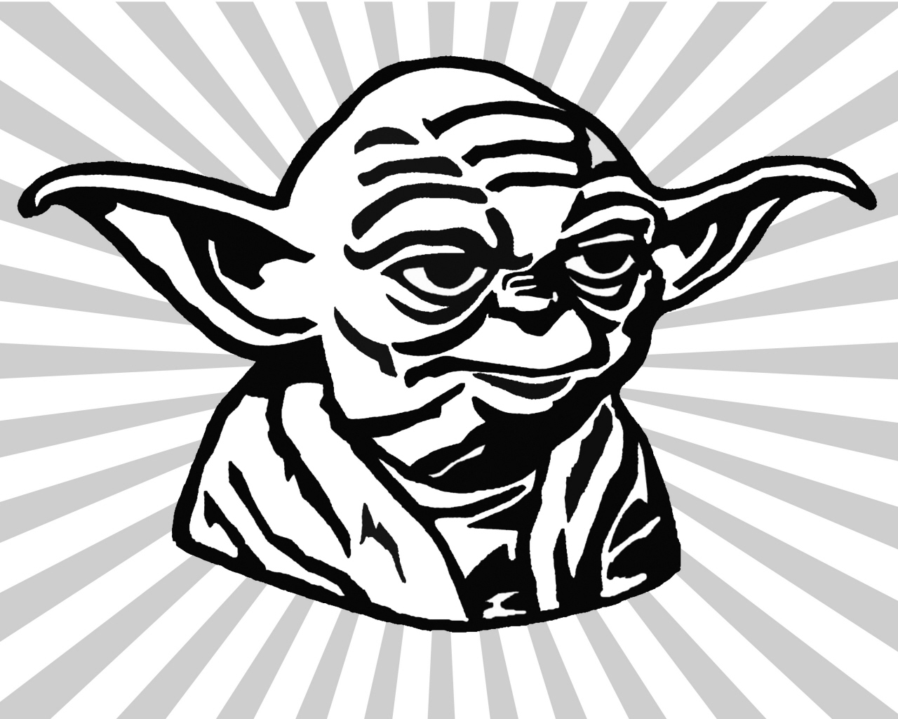 Line Drawing Yoda : Yoda clip art cliparts