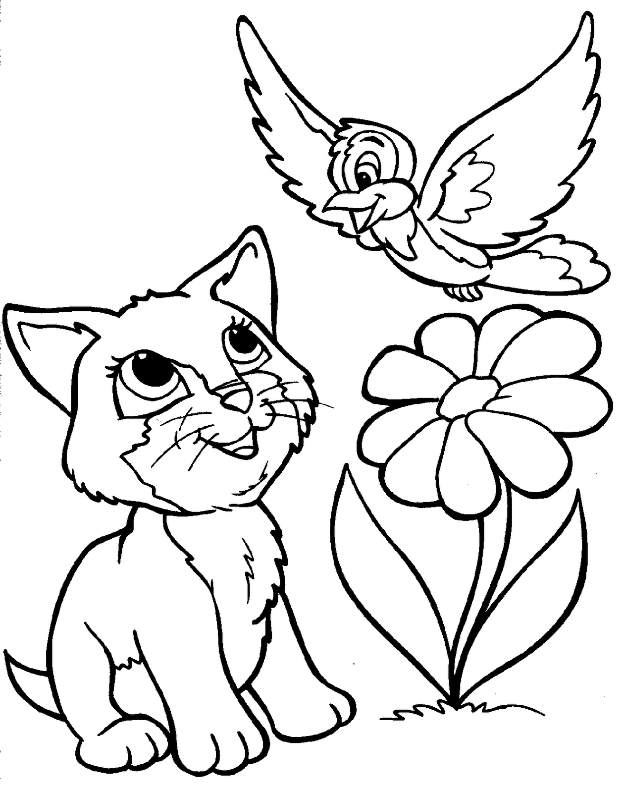 Co co coloring sheets free for kids - Co Co Coloring Sheet Of A Cat Kitten Color Pagesfree Coloring Pages For Kids Free
