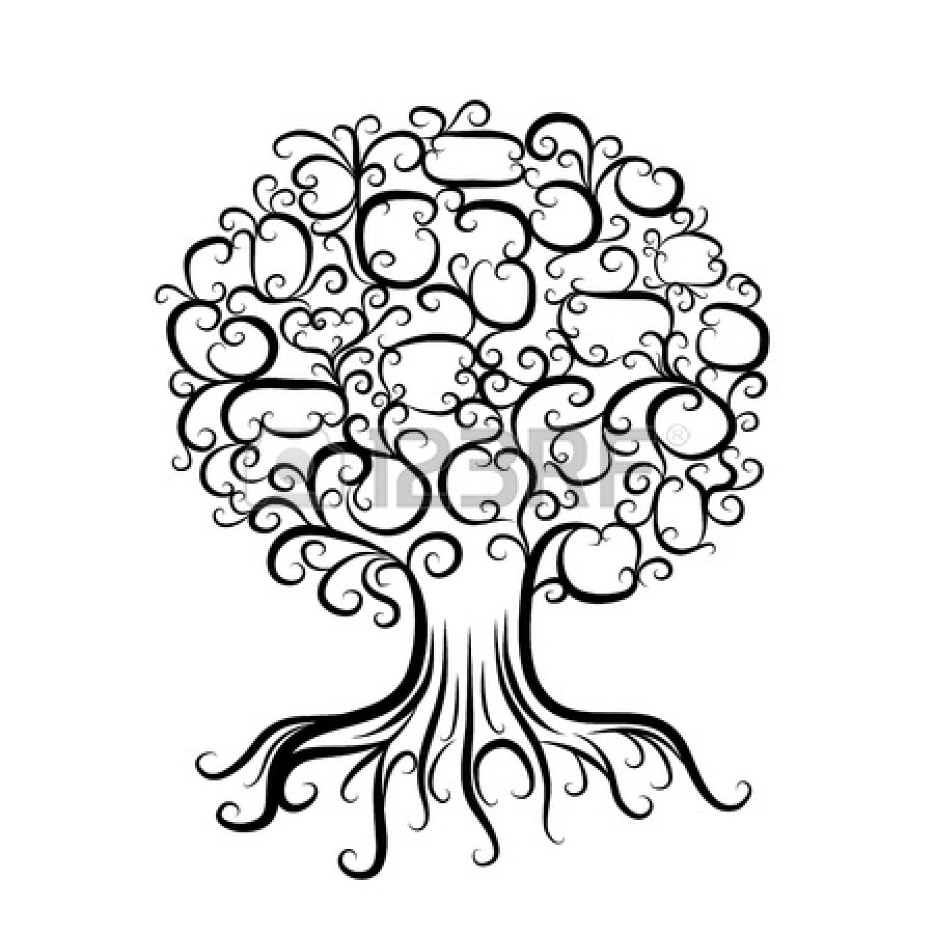 Ornamental tree with roots for | Clipart Panda - Free Clipart Images