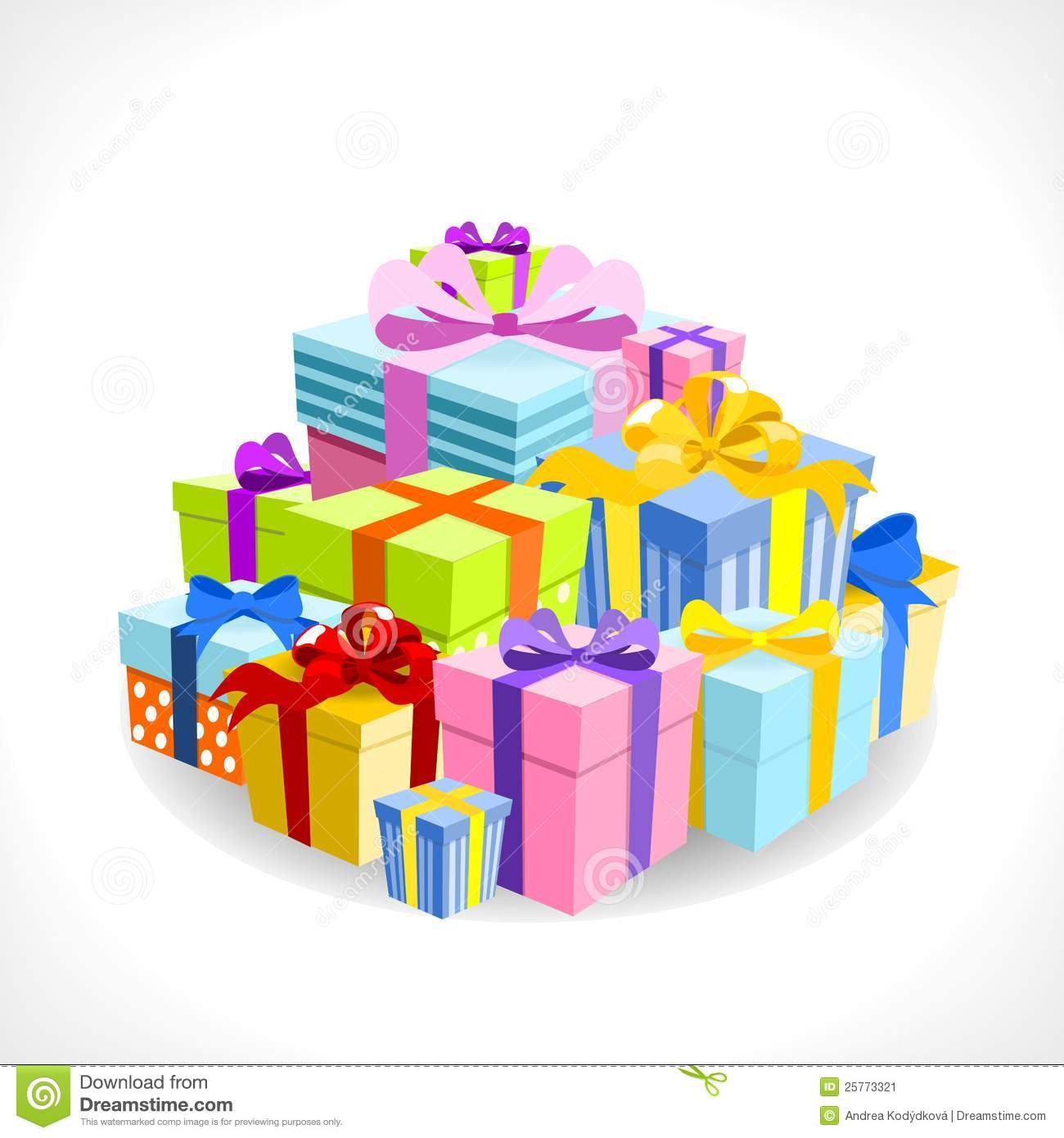Pink Birthday Present Clip Art