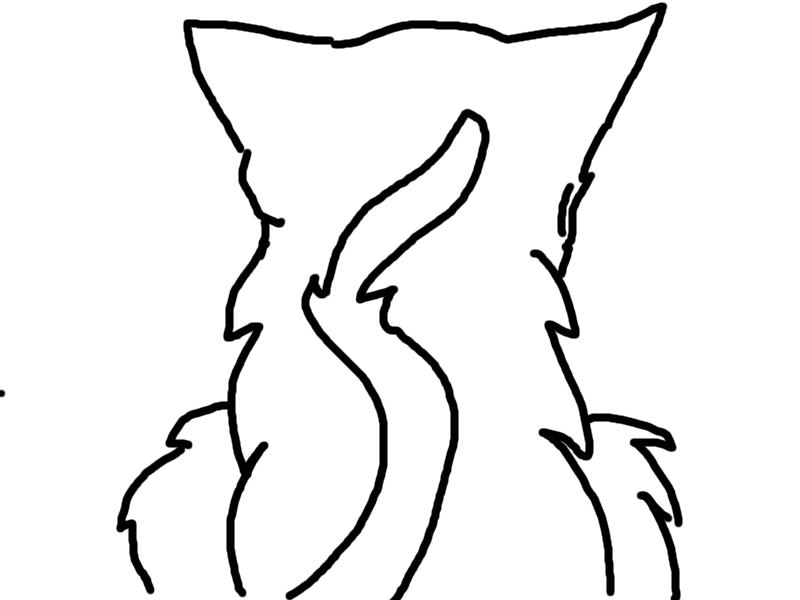 Warrior Cat Drawing Outline Sad Warrior Cat Outlines