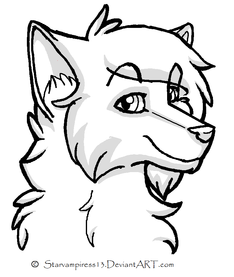 Line Drawing Cartoon Face : Wolf cartoon pictures cliparts
