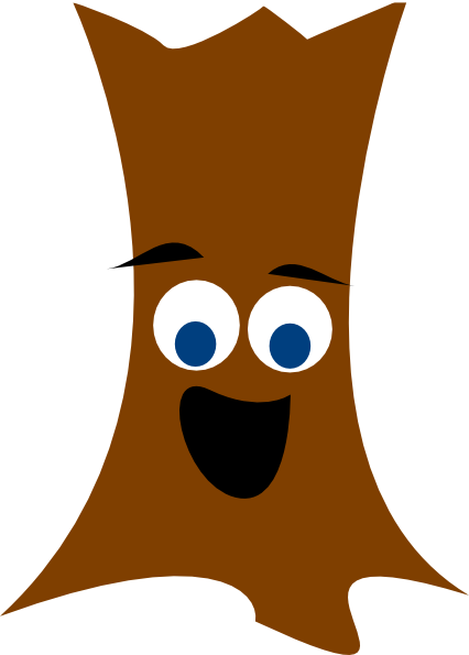 Tree Trunk With Face clip art - vector clip art online, royalty ...