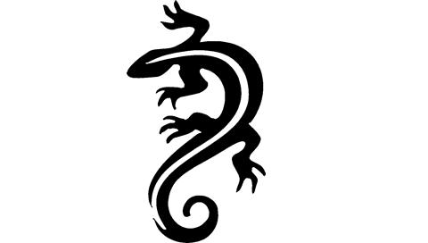 Lizard Stencil