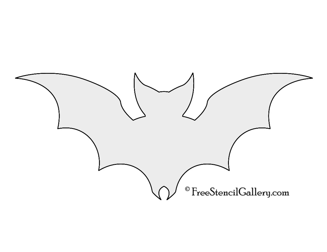 Bat stencil - Breathtaking image of halloween decoration using bat pumpkin carving stencil ...