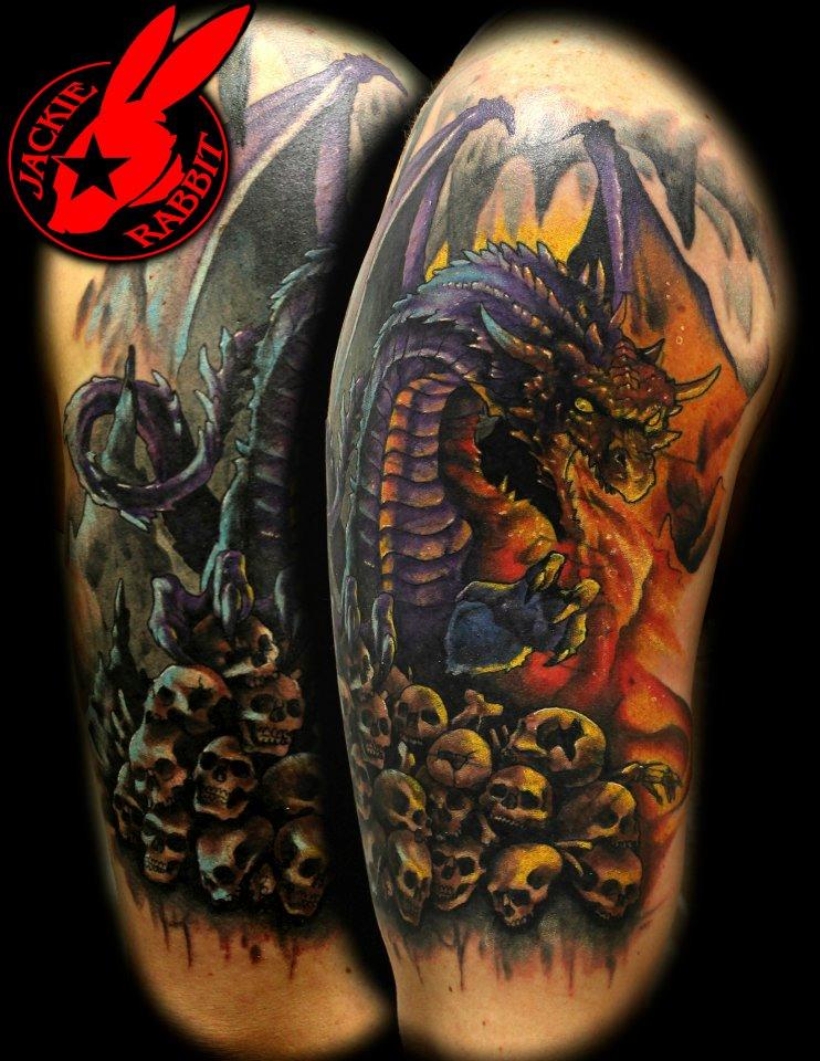 DeviantArt More Like Fire Breathing Dragon Tattoo By Jackie