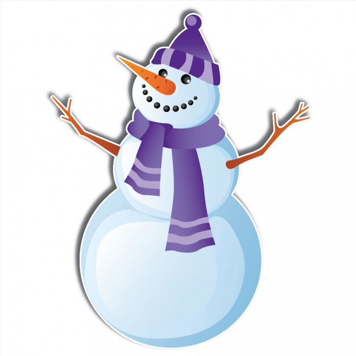 Christmas Snowmen Stand Up Yard Decorations – Includes 6 short stakes