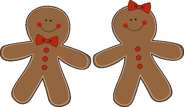 Gingerbread Couple Clip Art - Gingerbread Couple Image