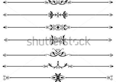 Rule Lines OR Divider With Scrolls With Intricate Designs stock ...