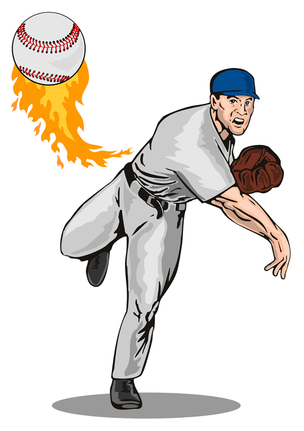 Cartoon Baseball Images