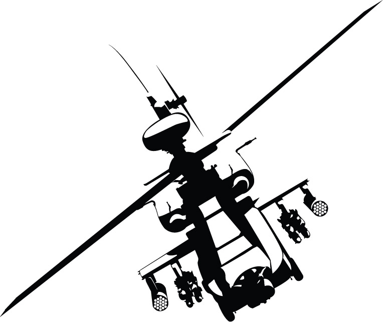 4MA010 - Apache Helicopter Wall Decal Sticker [4MA010] - $59.00 ...