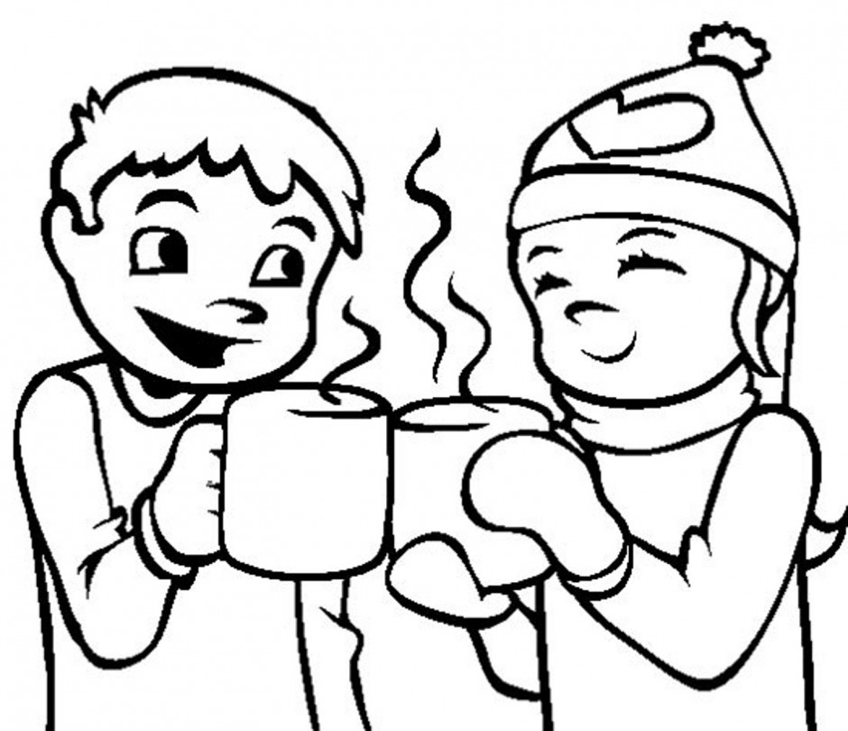 Hot cocoa pictures for Hot chocolate coloring page