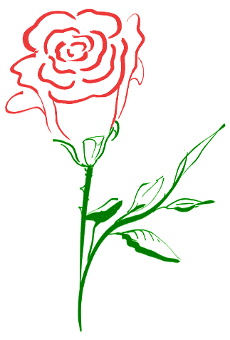 Free Rose Clipart - Public Domain Flower clip art, images and graphics