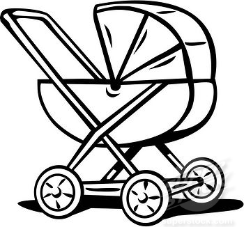 Pix For > Cartoon Baby Carriage